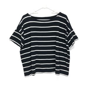 Eileen Fisher Striped Top Short Sleeve